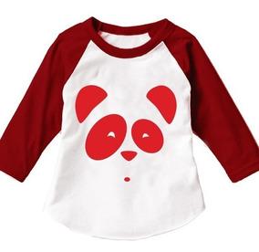 8 Playeras Panda Familia Telerin Tipo Ranglan