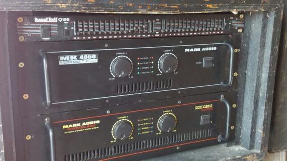 Amplificador Potência Marck Áudio Mk 4800 N/ Machine Mea S/r