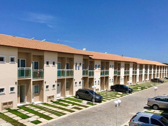 Casa Com 2 Dormitórios À Venda, 68 M² Por R$ 168.000 - Messejana - Fortaleza/ce - Ca0758
