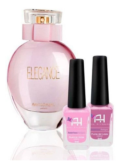 Kit Perfume Fem Ana Hickmann Edc Elegance 80ml + 2 Esmalte