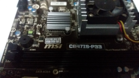 Placa-mãe Itx Msi 847is-p33 Celeron 847/ 1.1 Ghz/ Dual-core