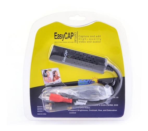 Placa De Captura Vídeo Usb Easycap Áudio-vídeo Notebook Pc