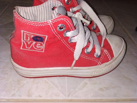 Botitas Zapatillas Rojas 28