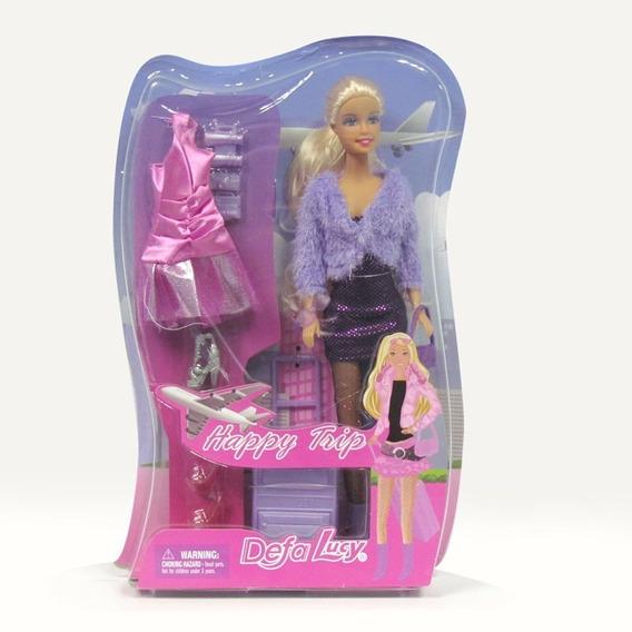 Muñeca Barbie Defa Lucy Viajera Con Accesorios Juguete Niña