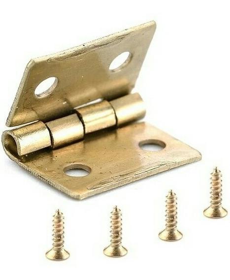 Lote De 100 Bisagra Miniatura 15*13mmc/tornillo Cod. Bgr-003
