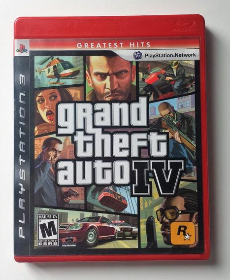 Gta 4 Grand Theft Auto 4 Ps3 Mídia Física Envio 12,00