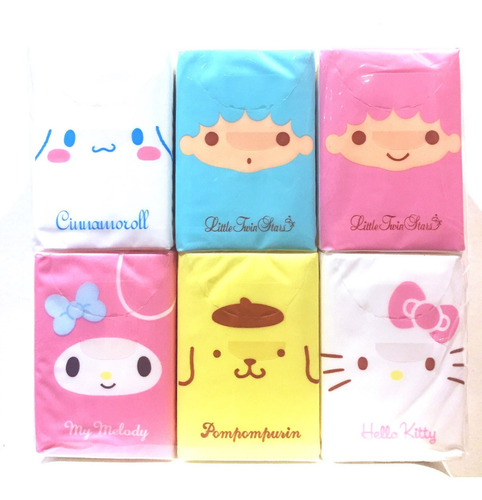Hello Kitty (nuevo Original) Set De 18 Packs Pañuelo Sanrio