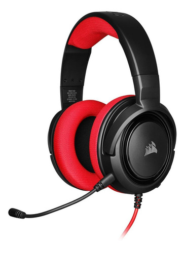 Imagen 1 de 4 de Audífonos gamer Corsair HS35 Stereo red