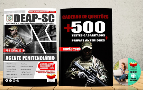Concurso Deap Sc Agente Penitenciário Apostila 2019