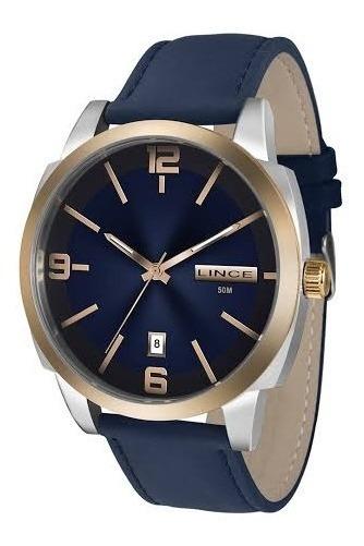 Relógio Lince Azul Marinho Clássico,masculino