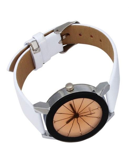 Relógio Branco Feminino Barato Presente Frete Grátis Ref:08