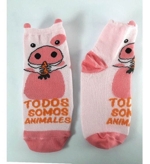 Medias Veganas Todos Somos Animales Chanchito Chancho