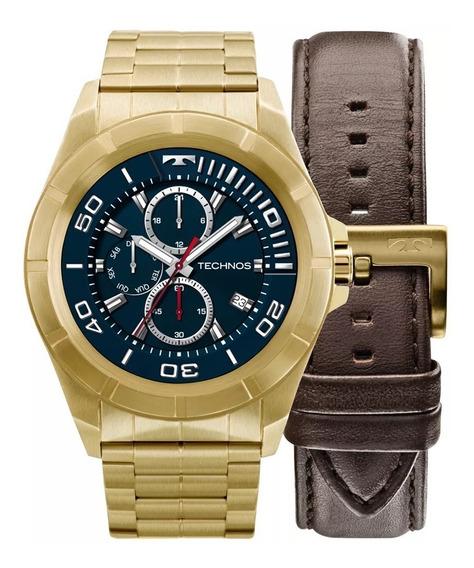 Relógio Technos Connect Dourado Troca Pulseira Srab/4p +fret