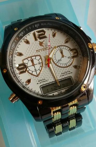Relógio Importado De Luxo Digital E Analógico Estilo Europeu