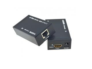 Extensor Hdmi 1 Un Cable 60 Metros Utp Adaptador Full Hd 3d
