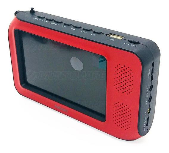 Mini Tv Digital Portátil 4.3 1080p Full Hd Usb Microsd Fm