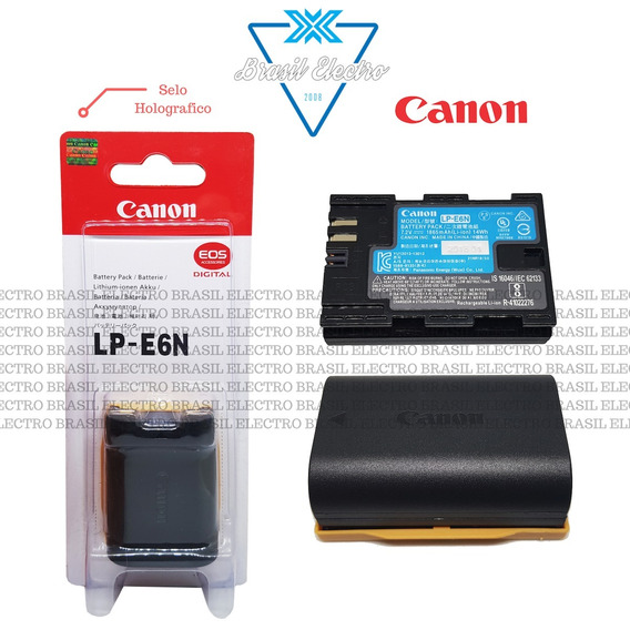 Bateria Canon Lp-e6n Eos 5d2 7d 7d2 6d 70d 60d 80d