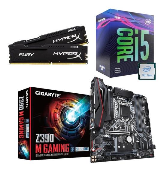 Kit Intel I5 9400f + Z390 M Gaming + Hx 16gb 2666