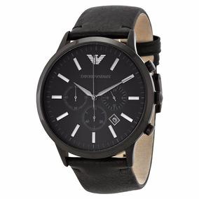 Relógio Emporio Armani Ar2461 Original Couro Preto Em Promo