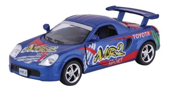 Carrinho Toyota Mr2 Azul - Ferro E Fricção