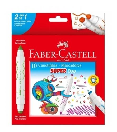 Canetinha Hidrográfica Super Duo C/ 10 Cores - Faber