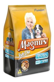 Ração Cães Filhotes Magnus Premium Todo Dia Carne 7 Kg