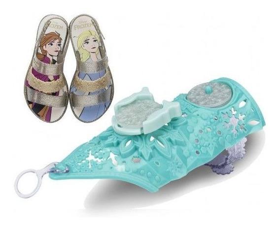 Sandália Disney Frosen Snow Power Infa Menina + Brinde 22026
