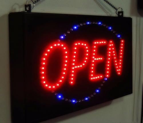 Anuncio Luminoso Led / Letrero Luminoso Open Dinámico Open