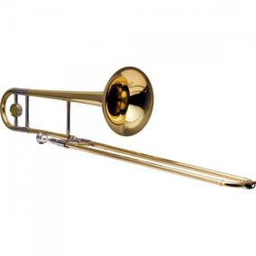 Trombone De Vara Afinado Em Bb Laqueado Hsl-700l Harmonics