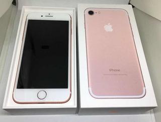 Apple iPhone 7 128gb Rose Gold Com Acessórios E Nf