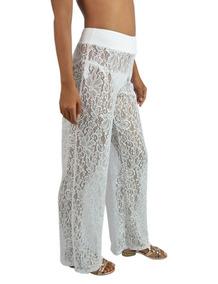 Calça Pantalona Saida De Praia Renda