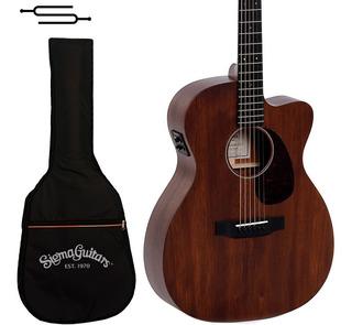 Guitarra Electroacustica Sigma 000mc-15e+ Caoba + Funda