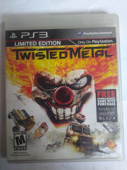 Jogo Twisted Metal Exclusivo Ps3 Midia Fisica R$55