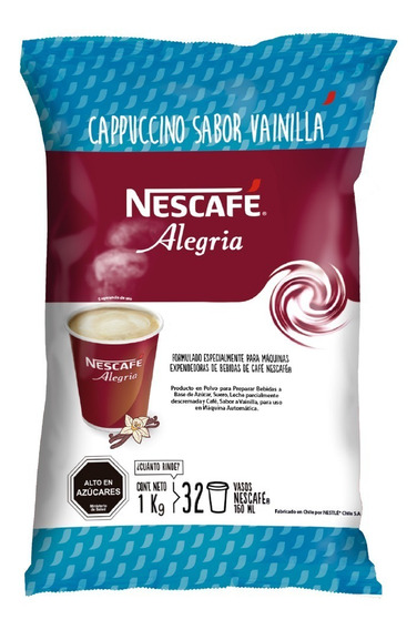 Nescafé Alegria Cappuccino Sabor Vainilla 1kg