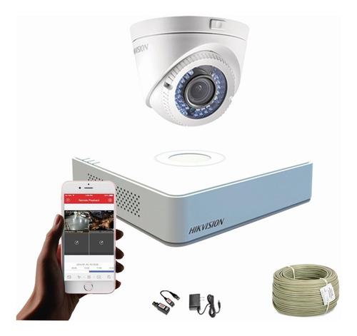 Imagen 1 de 7 de Cámaras De Seguridad Kit Cctv Hikvision Mini Dvr 4 Ch + 1cám