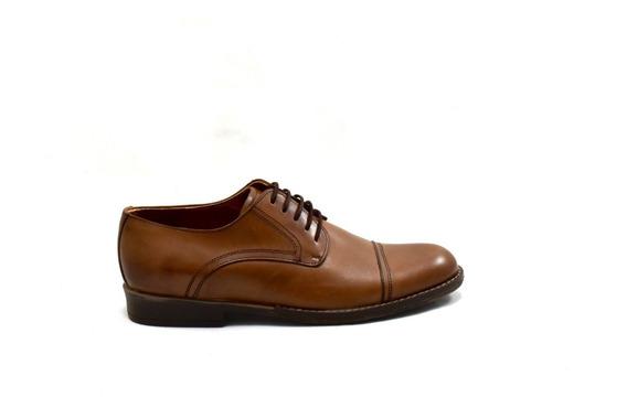 Zapato Marrón De Cuero Con Suela De Goma Para Hombre 3120-s