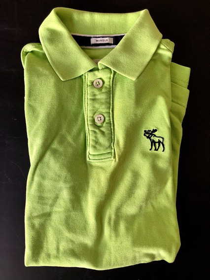 Polo Abercrombie & Fitch (verde) - Talla S