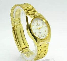 Relógio Feminino De Pulso Dourado Resistente Orinet.barato.