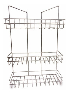 Organizador Cocina Baño Ducha 3 Estantes Colgante Shampo Pc