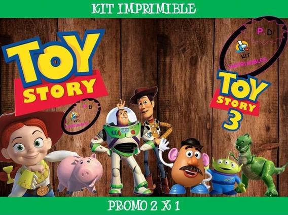 Kit Imprimible Toy Story 3 Fiesta Cumple 2x1