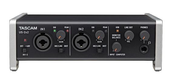 Placa Interfaz De Audio Tascam Us-2x2 Usb 2.0 Audio/midi