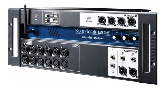 Mesa De Som Digital Soundcraft Ui16 16 Canais + Wifi E Usb