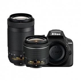 Câmera Nikon D3400 18-55mm Vr+ 70-300mm Ed Preto