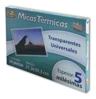Micas Térmicas Para Enmicar 21.3x30.3cm 50 Pzs 5mil
