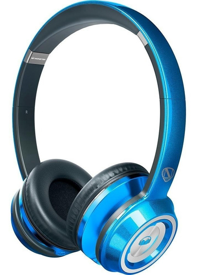 Fone De Ouvido Monster Ncredible N-tune Hd Candy Blue On Ear