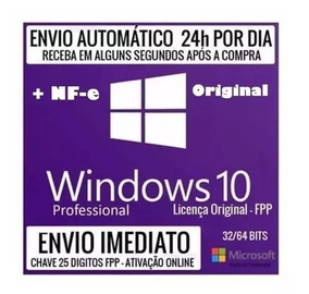 Windows 10 Pro Chave Licença Download Original C/nfe