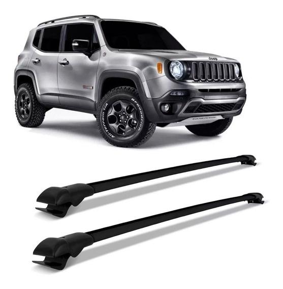 Travessa Rack Bagageiro Jeep Renegade 2015 A 2020 Preto Slim