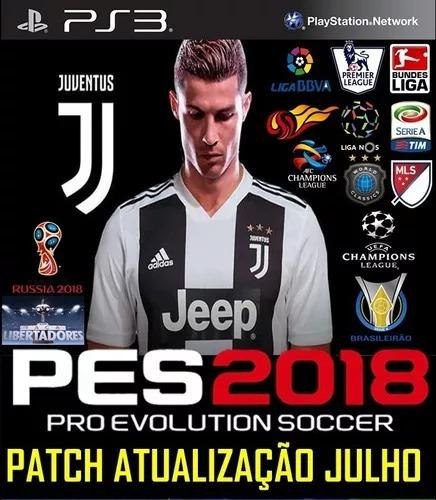 Patch Pes 18 Ps3 Atualização Julho Brasilerão Temporada 2018