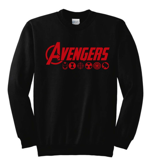 Avengers Marvel Sudadera Sin Gorro Negro