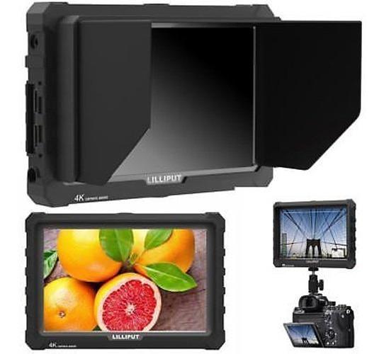 Monitor Lilliput A7s Black + Fonte + Cabo Micro Hdmi + Extra
